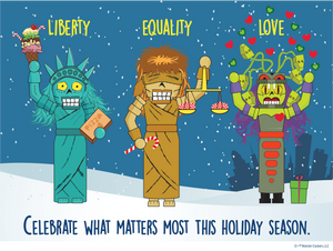 Monster Crackers Liberty Equality Love Tee - All Gender