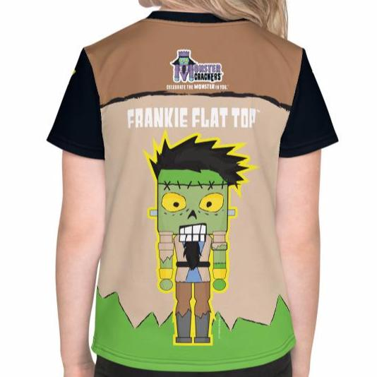 Frankie Flat Top Kids Tee (2T-7) All Over Print