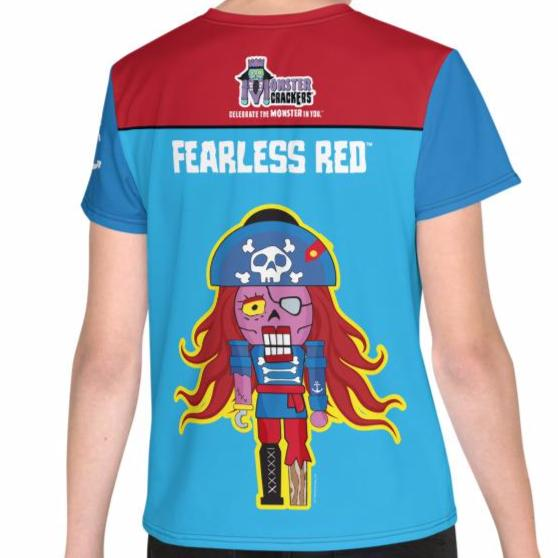 Fearless Red Youth Tee (8-20) All-Over Print
