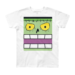 Frankie Flat Top Box Face Youth (8-12 yrs) Tee - All Gender