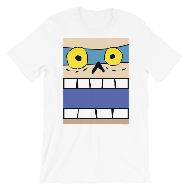 Mummified Mel Box Face Adult Tee - Gender Neutral