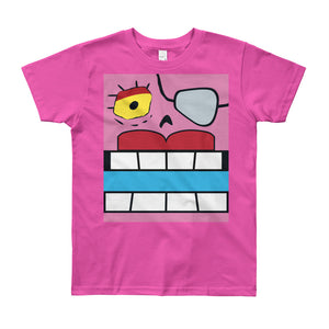 Fearless Red Box Face Youth (8-12 yrs) Tee - All Gender