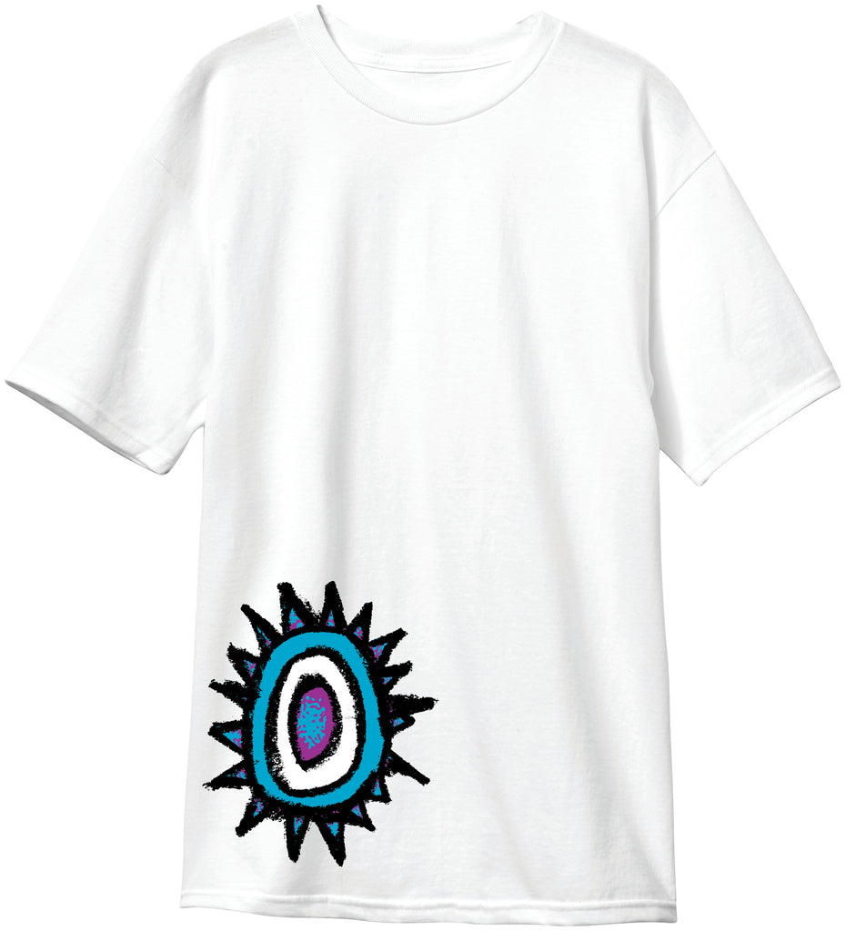New Deal Sun Logo  S/S Tee White