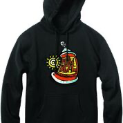 New Deal Spray Can P/O Hood Black