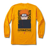 Primitive Naruto 2 Hol Know Pain  L/S Tee Gold