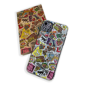 iPhone 11 Sticker Pile Phone Case