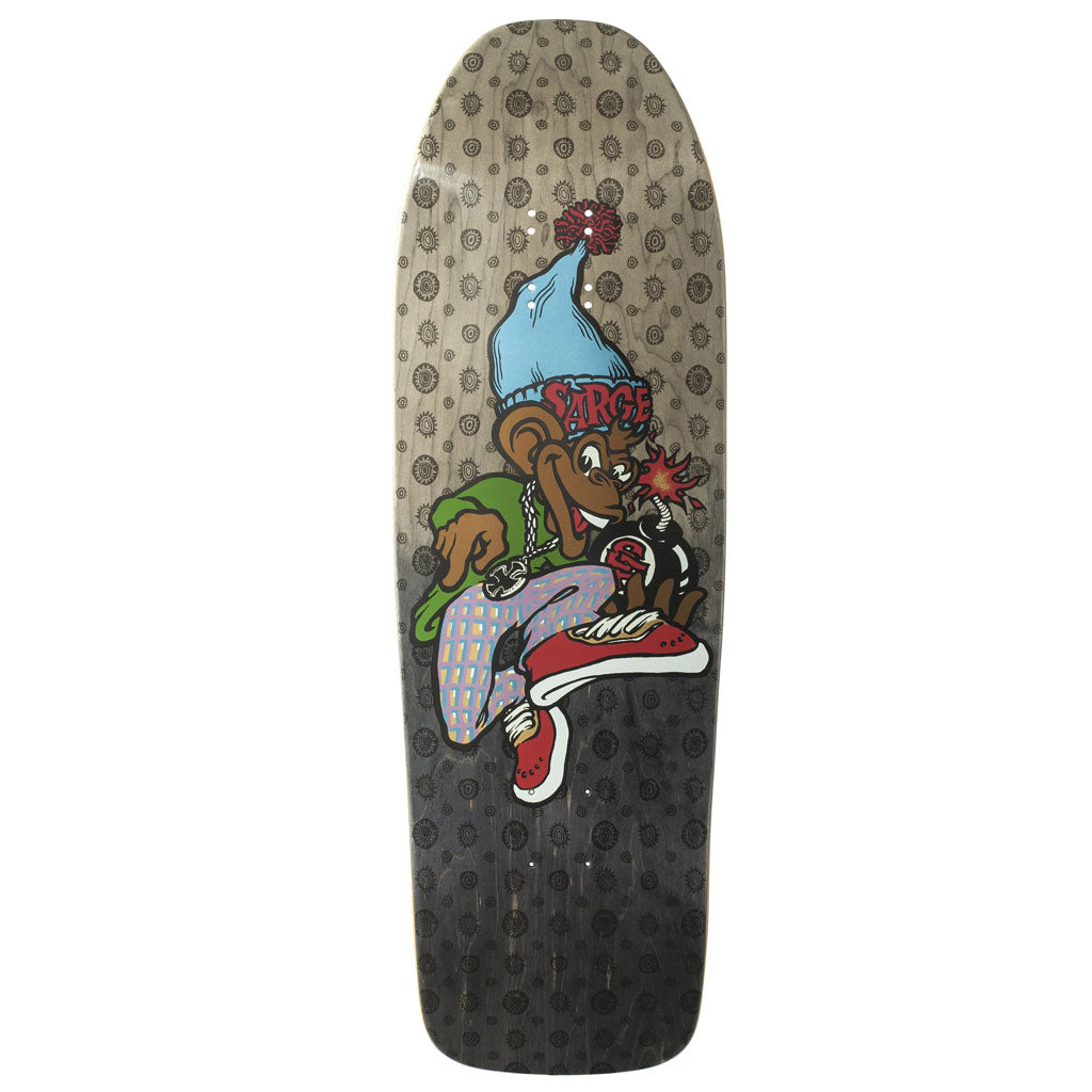 New Deal Sargent Monkey Bomber Metallic HT Deck Black 9.625""