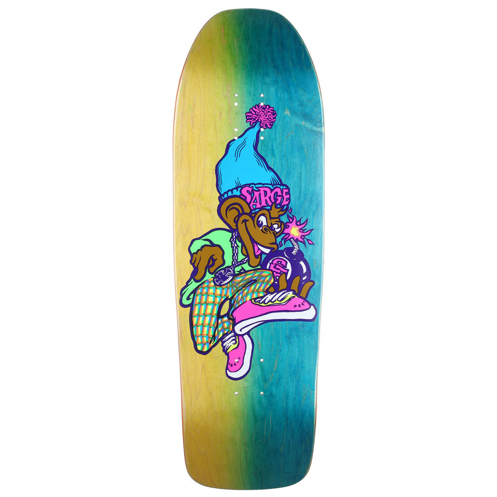 New Deal Sargent Monkey Bomber Neon HT Deck Multi 9.625""
