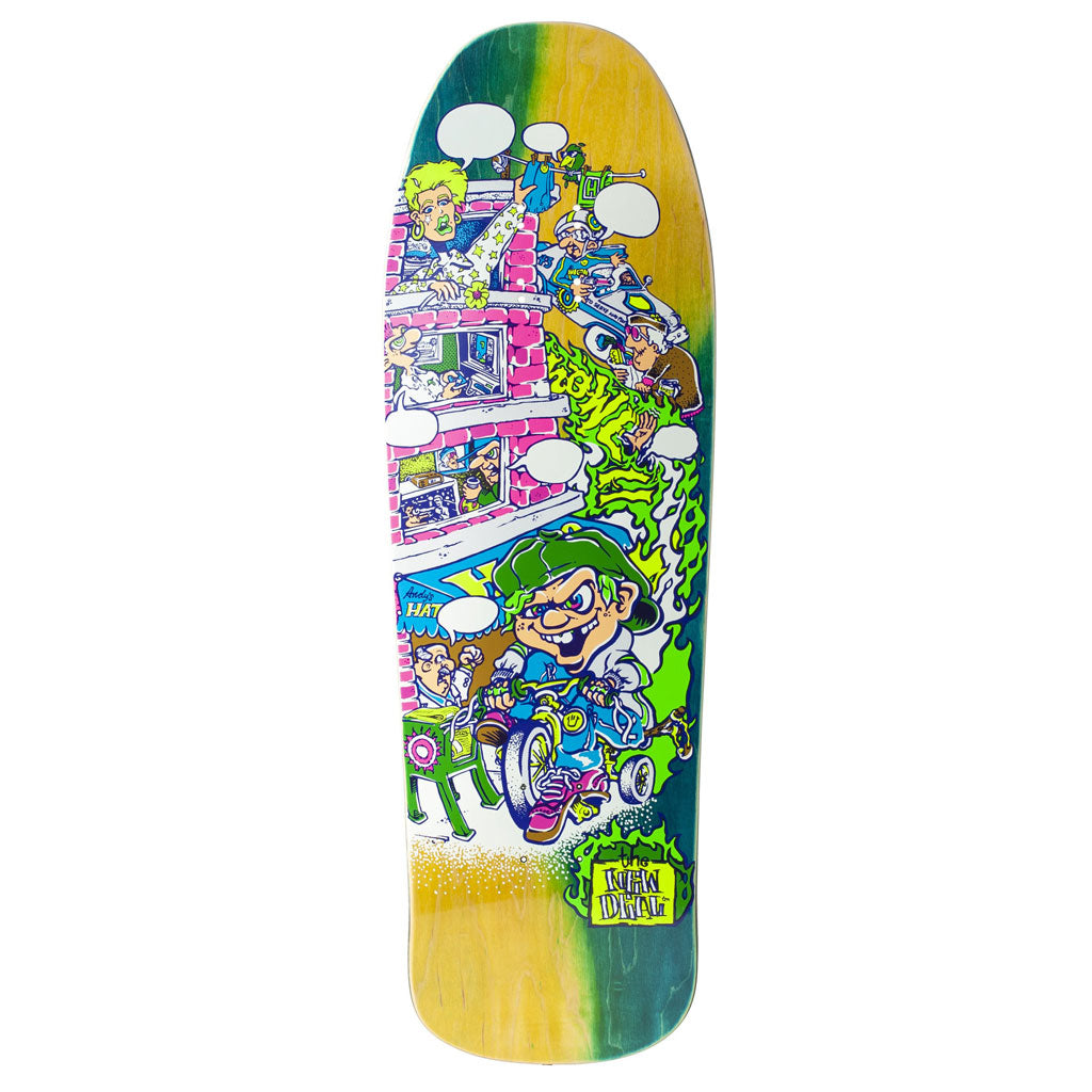New Deal Howell Tricycle Kid Neon HT Deck Multi 9.625""