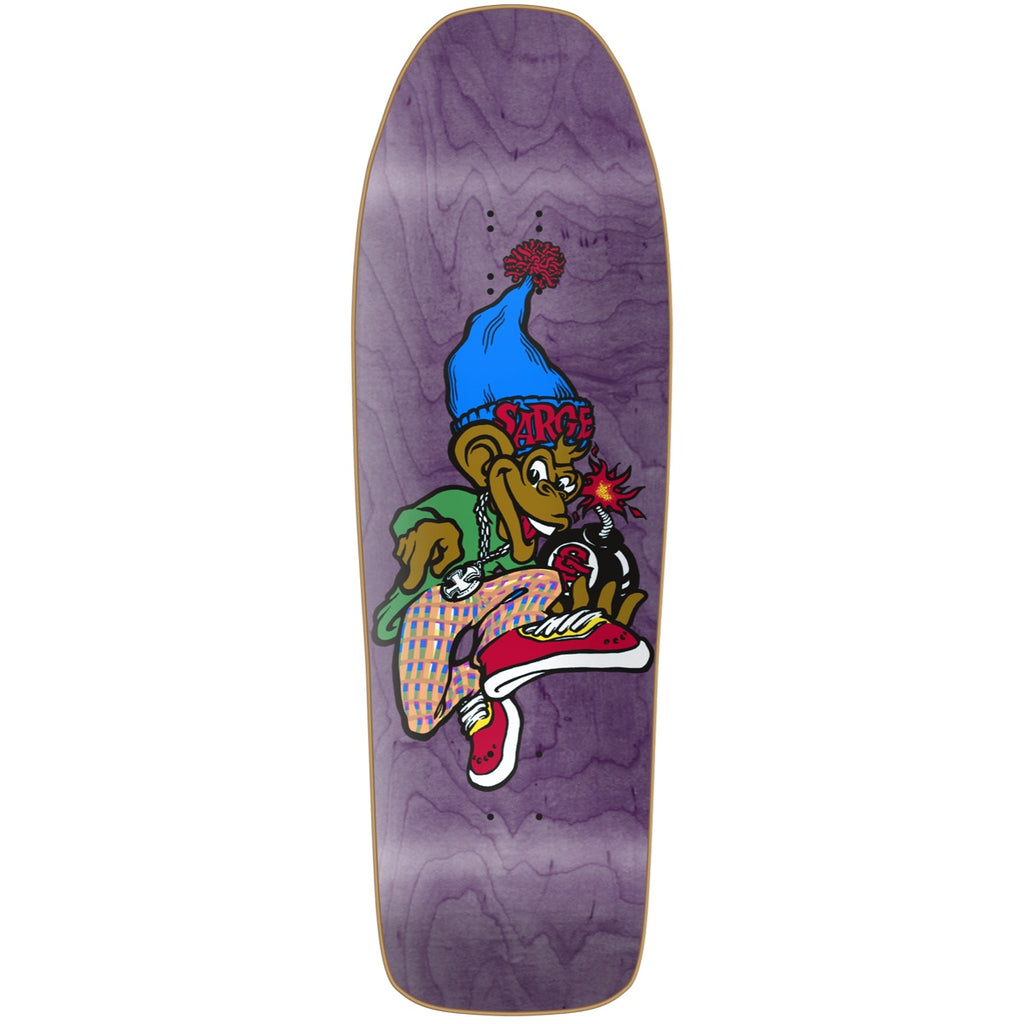 "New Deal Sargent Monkey Bomber HT Deck 9.625"" Purple"