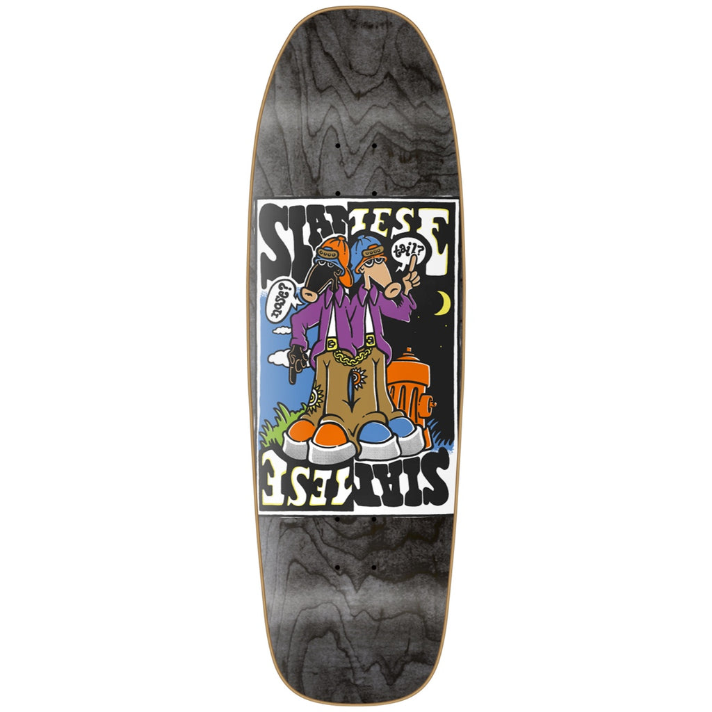 "New Deal Siamese Doublekick HT Deck 9.625"" Black"