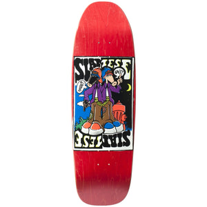 "New Deal Siamese Doublekick SP Deck 9.625"" Red"
