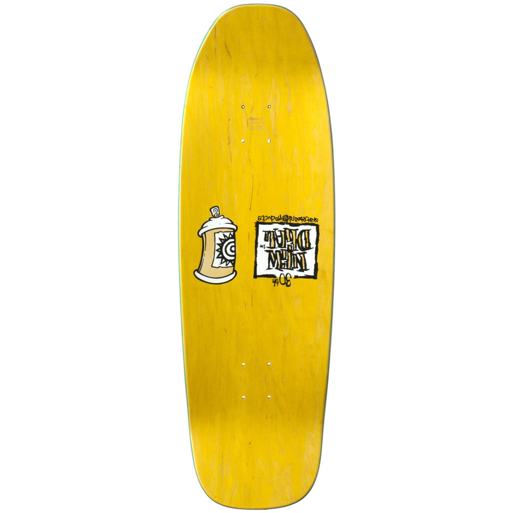 "New Deal Siamese Doublekick SP Deck 9.625"" Yellow"