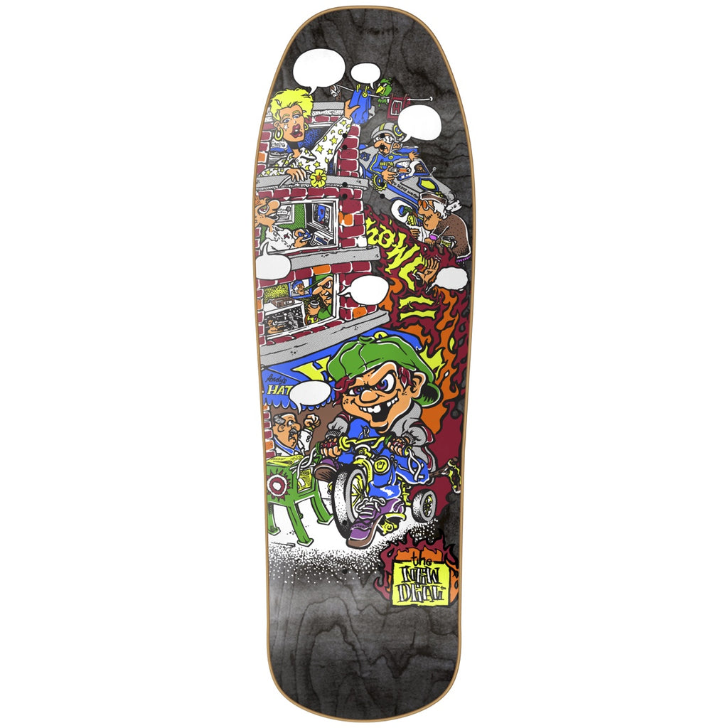 "New Deal Howell Trycycle Kid HT Deck 9.625"" Black"