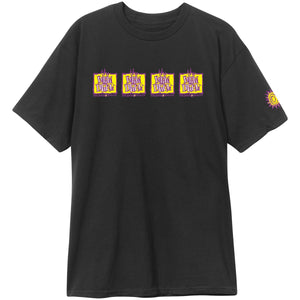 New Deal Original Napkin 4-Bar S/S Tee Black
