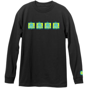 New Deal Original Napkin 4-Bar L/S Tee Black