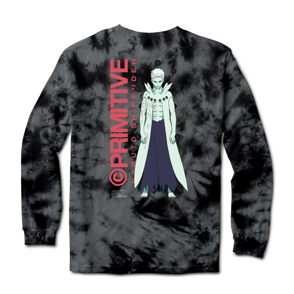 Primitive Naruto 2 Hol Obito  Washed  L/S Tee Black