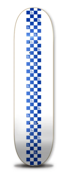 The Heart Supply Logo Boards Checkered Board Decks Blue 8""