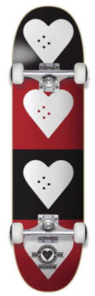 The Heart Supply HS Hol 20 CM Quad Logo Completes Black/Red 7.75""