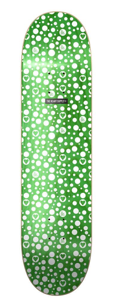 The Heart Supply Luxury Spots Deck Green/White 8.25""
