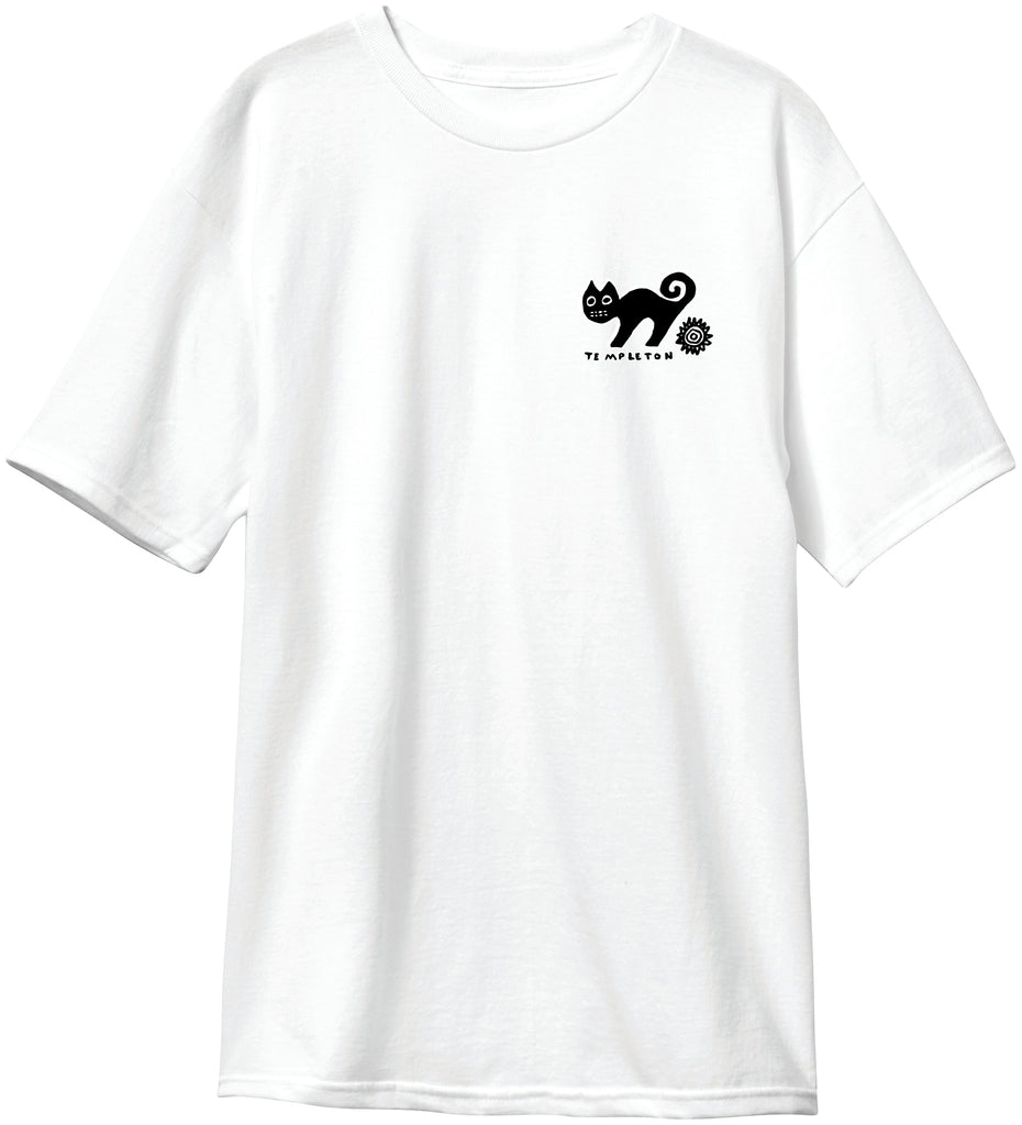 New Deal  Templeton Cat  S/S Tee White