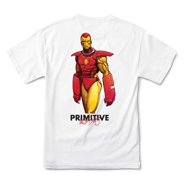 Primitive IRON MAN S/S Tee White