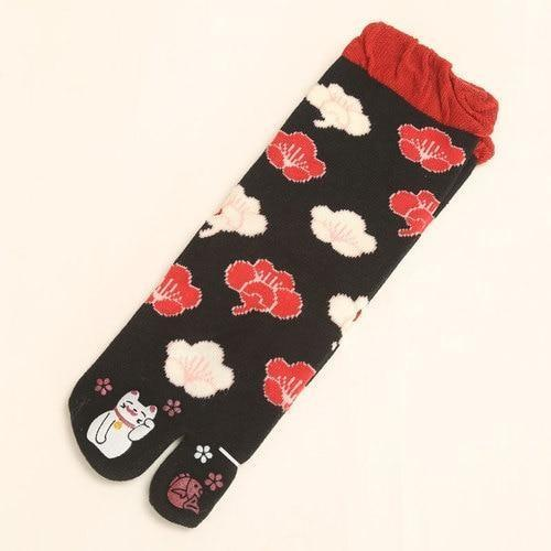 3 Pairs Of Cotton Tabi Socks - 3 Pairs