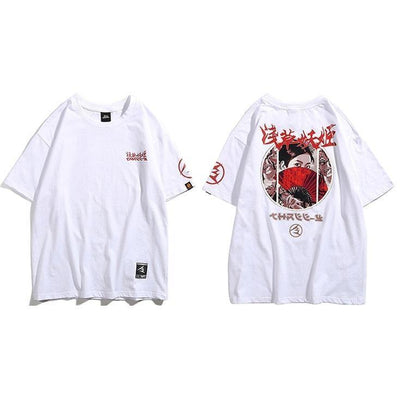 Aesthetic Japanese Shirt - Killer Eyes - White / M