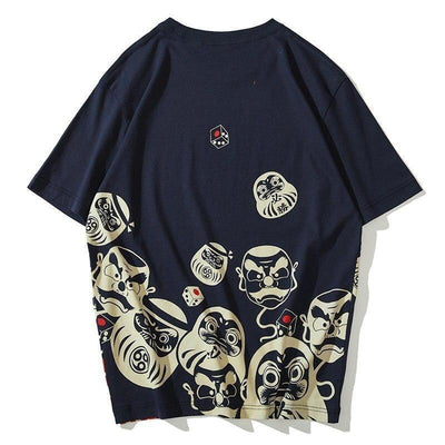 Japanese Daruma T-Shirt - Dark Blue / M