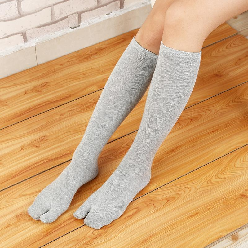 Japanese High Tabi Socks - Grey