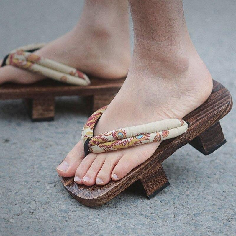Japanese Wooden Geta Sandals - Kujaku - 34