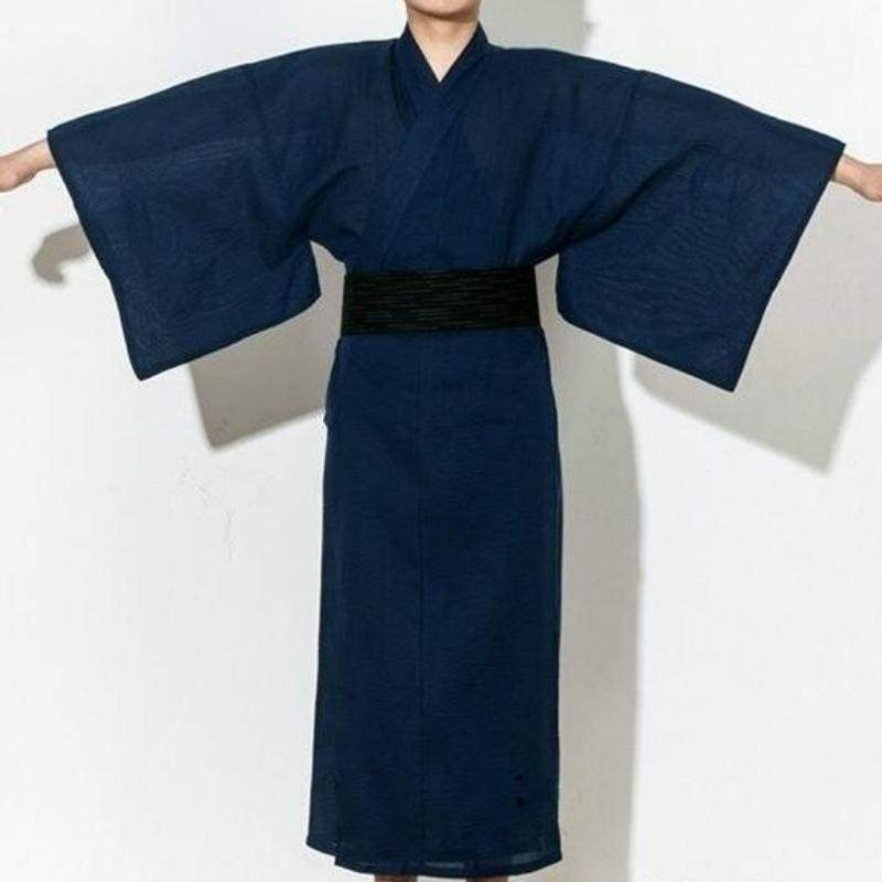 Japanese Yukata For Men - Kon'iro - M