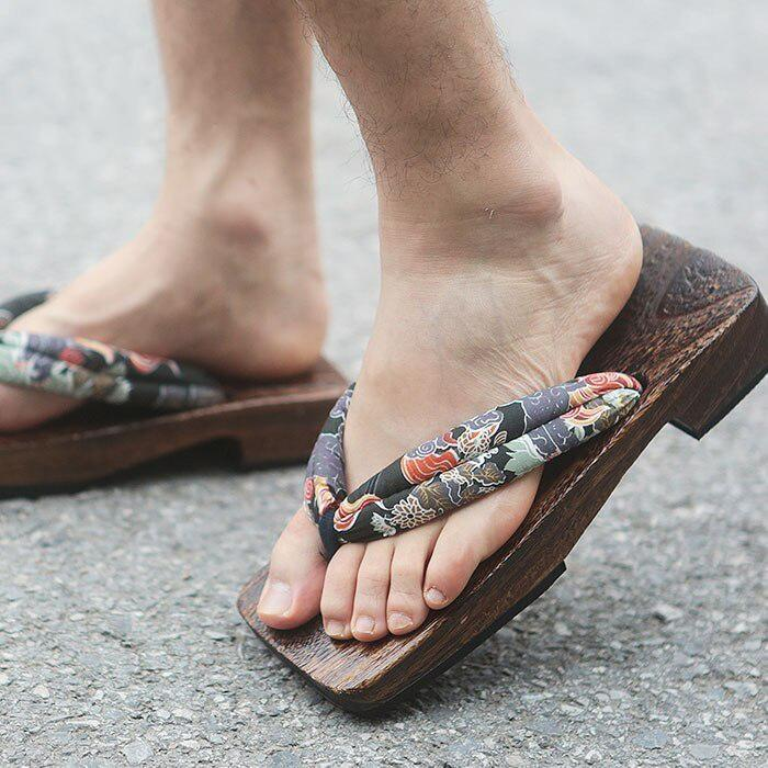 Men's Geta Sandals - Kiku