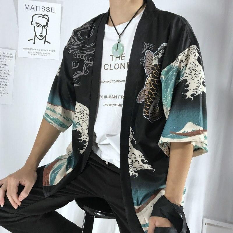 Men's Kimono Jacket - Koi Fish - One Size