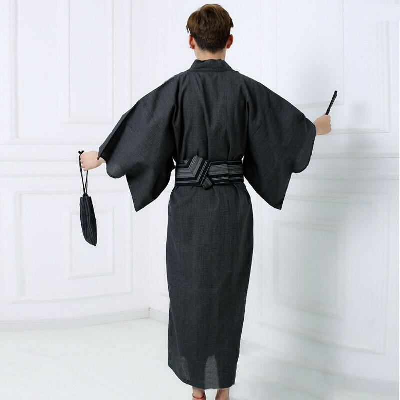 Men's Traditional Yukata - Black Color - M