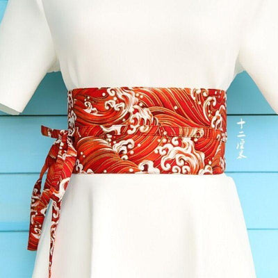 Red Obi Belt Araumi - L
