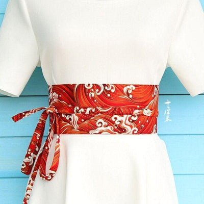 Red Obi Belt Araumi - M