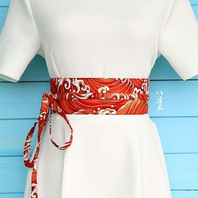 Red Obi Belt Araumi - S