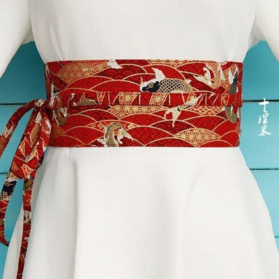 Red Obi Belt Koï Fish - M
