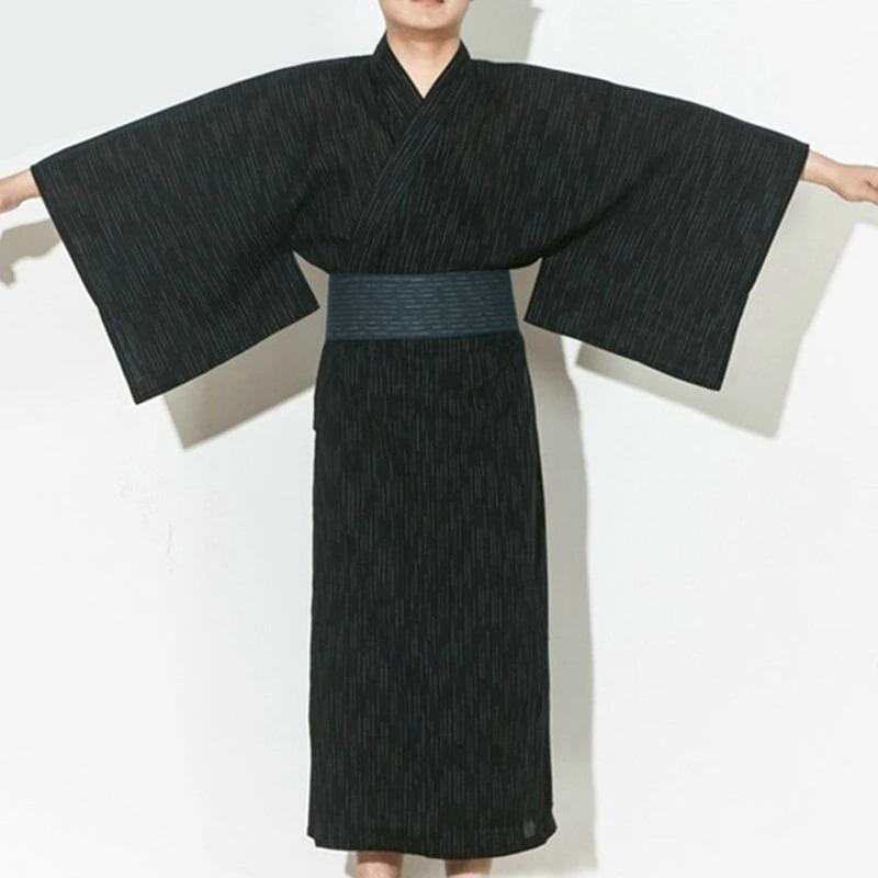 Traditional Yukata For Men - Kuro