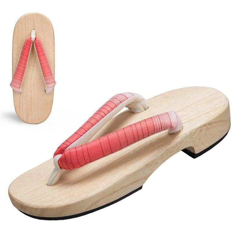 Women's Japanese Geta Sandals - Aka Shiro - 33