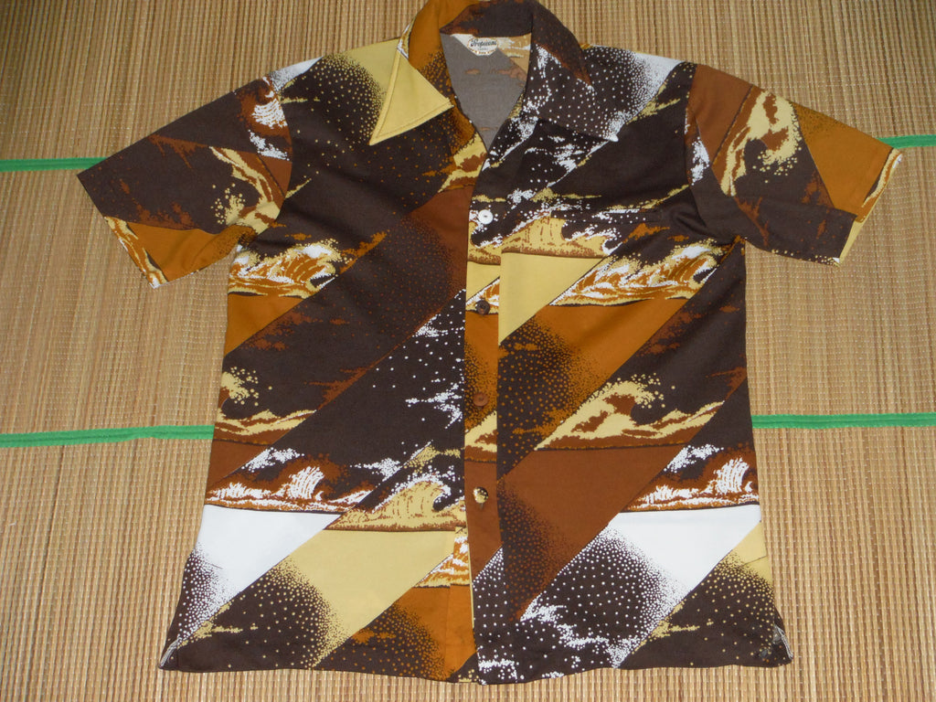 a49fffb7 Vintage men's Aloha shirt by Tropicana Hawaii. Polyester, Size: Mens Size  Small