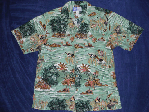 d8625ee7 Hawaiian shirt by RJC. 100% Cotton. Size: Mens Large