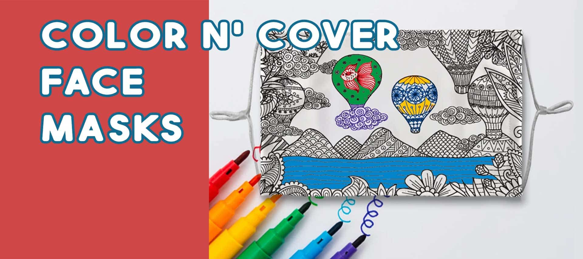 Color N' Cover - Coloring Face Masks