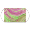 Pink & Green Marble Dye Face Mask