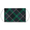 Green Plaid Pattern Face Mask