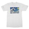 Starry Wave T-shirt - Starry Night Van Gogh & Great Wave Hokusai