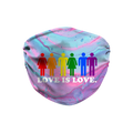 Love is Love Marble Dye Face Mask