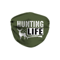 Hunting Life Green Face Mask