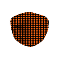 Orange Black Halloween Dots Face Mask